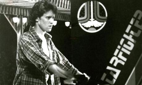 """The Last Starfighter"" starring Robert Preston and Lance Guest."