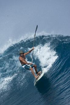 Champion surfer Gerry Lopez shows a more advanced move in Punta Mita