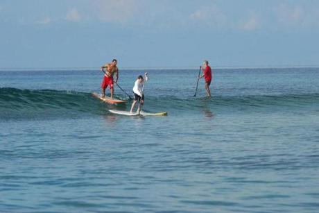 Big Blue unlimited offers stand-up paddle boarding lessons on Providenciales, Turks and Caicos.