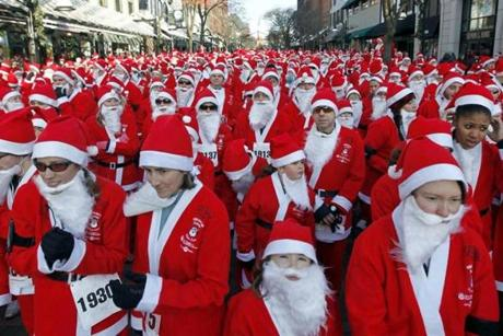 Nearly 2,000 Santa-suited runners will turn downtown Burlington, VT into a sea of red on Dec. 2.
