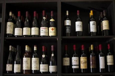 French wines filled the shelves of the Newport Wine Cellar.