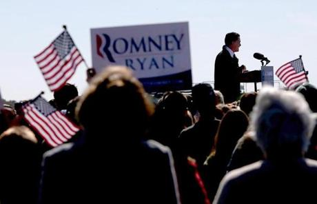 Mitt Romney spoke  Monday afternoon at a campaign rally in Lynchburg, Va.