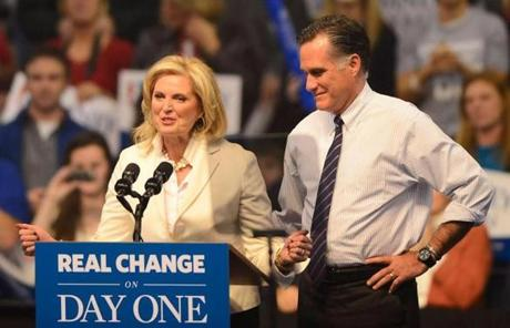 Mitt and Ann Romney were in Manchester, N.H., tonight.