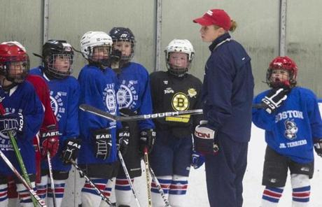 O'Sullivan works with local youths to build their hockey skills, a trait she learned when she was a young girl.
