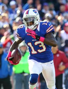 The Patriots hope to contain Stevie Johnson on Sunday.