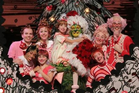 "The cast of  ""Dr. Seuss' How the Grinch Stole Christmas! The Musical"""