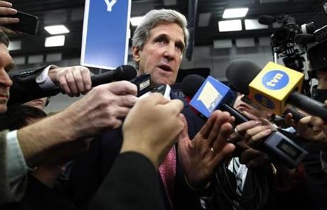 Senator John Kerry of Massachusetts, previously considered a contender for secretary of state, may become the next defense secretary.