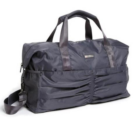 """Zella"" gathered duffel, $88 at Nordstrom, Natick Mall, 290 Speen Street, Natick; 508-318-2600; Burlington Mall, 75 Middlesex Turnpike, Burlington, 781-345-7800; and other locations, nordstrom.com"