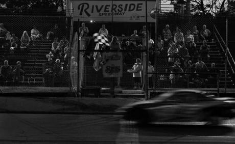 Groveton, N.H. - 08-25-12- The checkered flag comes out in the final youth division race of the season at Riverside Speedway in Groveton, N.H. According to 13-year-old racer Matt Kopp,