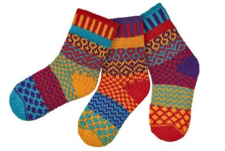 Socks made by Solmate Socks in Vermont.
