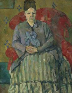 """Madame Cezanne in a Red Armchair"