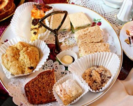 The Duchess of Windsor afternoon tea includes finger sandwiches, scones, and other sweets and savories of the day.