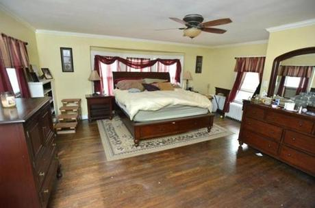 The bedroom of the second floor master suite.