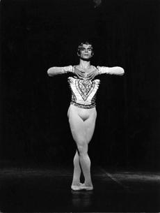 "Rudolf Nureyev photographed by André Chino in ""La Bayadère"" (Palais Garnier, 1974)."