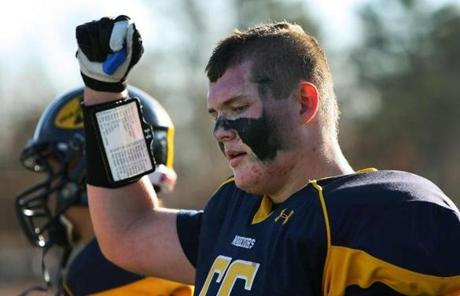 Andover offensive lineman Matthew Sutliff celebrated the victory.