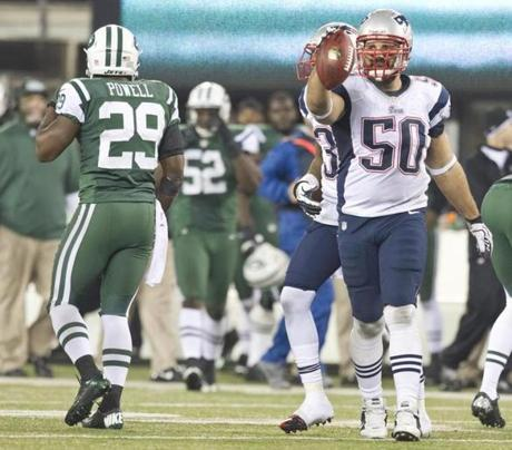 Rob Ninkovich recovered a Jets fumble on Nov. 22.