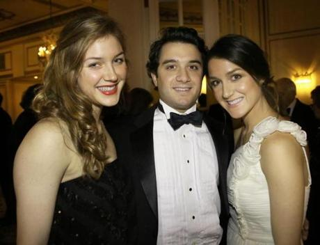 11-24-2012 Over 250 guests attended Hellenic Women's Club Mistletoe Ball 2012 held at the Fairmont Copley Plaza Hotel, the event raised over 100,000 dollars. L. to R. are Alexandra White with brother Marc White and sister Marina White all from Marblehead.