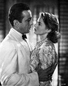 """Casablanca"" (1942), starring Humphrey Bogart and Ingrid Bergman was inspired by the play ""Everyone Comes to Rick's."""