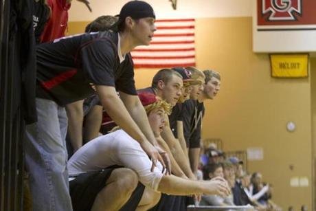 Grinnell's fans at Darby Gym.