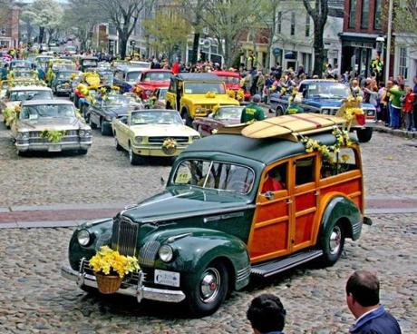 The Nantucket Daffodil Festival is in full bloom April 26-28. It includes a vintage car parade featuring over 100 daffodil-decorated autos.
