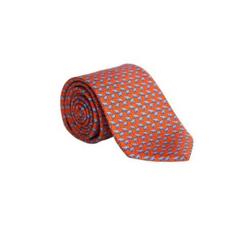 Orange elephant tie by Alton Lane, $125 at Alton Lane, 91 Newbury St., 646-896-1212, www.altonlane.com.