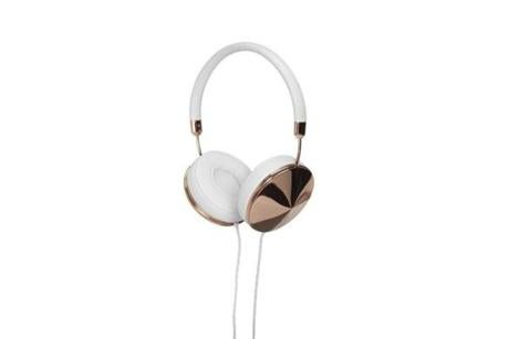 Taylor over-the-ear gold and white headphones by Friends, $199 at the Apple Store, 815 Boylston St., 617-385-9400, and Boston-area stores, www.apple. com.