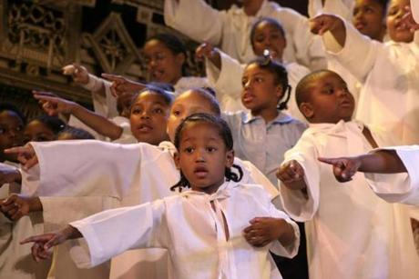 Gifted children, accompanied by lustrous voices bring Langston Hughes vision of Black Nativity to life this holiday season.