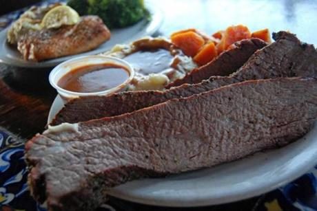 Santa Maria-style tri-tip steak is another house specialty.