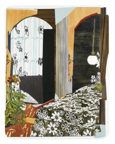 """Interior: Bedroom With Flowers."""