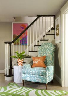 A vintage chair helped transform the room.