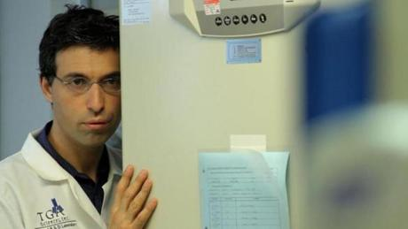 "Alex Karpovsky of Newton co-wrote, directed, and stars as a scientist obsessed with a woman in ""Rubberneck."""