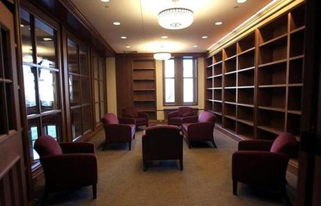 The honors library at Stokes Hall. Tthe first classes will be held in the building when students return from winter break.