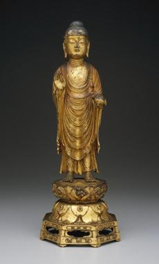 Buddha of Medicine. 8th century A.D. Gilt bronze.