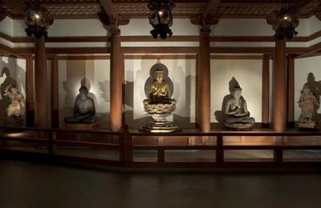 Buddhist Temple Room at the Museum of Fine Arts.
