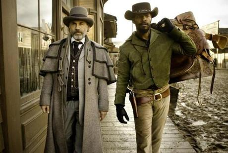 "Christoph Waltz (left) and Jamie Foxx in ""Django Unchained.''"