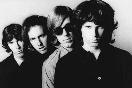 The Doors. From left: John Densmore, Robbie Krieger, Ray Manzarek and Jim Morrison.