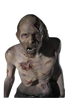 "A zombie from AMC's ""The Walking Dead."""