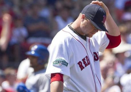 Jon Lester surrendered 11 runs in four innings in a July start against the Blue Jays.