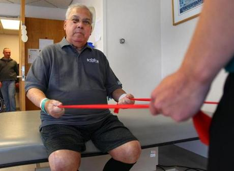 The mayor had been undergoing physical therapy at Spaulding Rehabilitation Hospital.