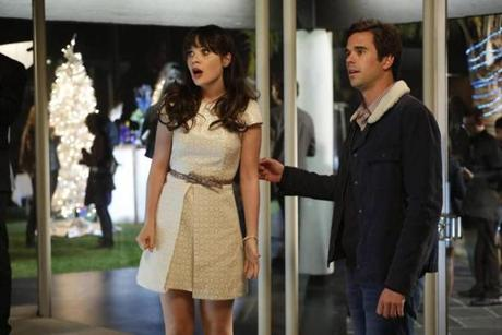 "Zooey Deschanel and David Walton in ""New Girl."""