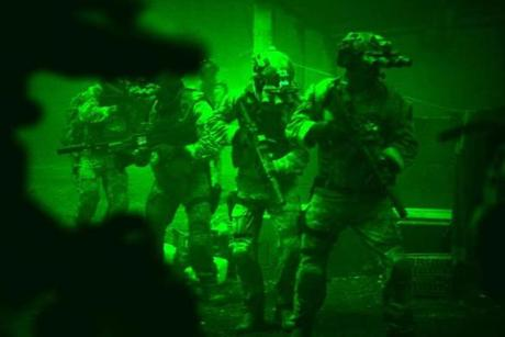"The final 30 minutes of ""Zero Dark Thirty"" are devoted to a painstaking re-creation of the raid by Navy SEALs that led to the death of Osama bin Laden."