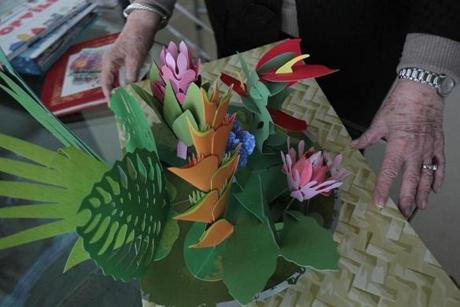 One of Levine's current passions is floral/nature pop-up books.