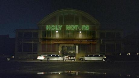 "A scene from ""Holy Motors."""