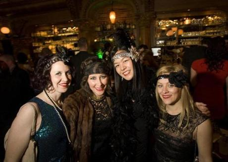 From left: Maura Ramsey, Meg Howe, Evelyn Lin, and Michelle Norell at Stoddard's Gatsby party.