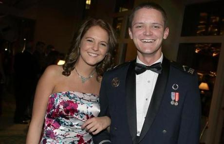 Alexandra George of East Windsor, Conn., and Cadet 3d Class Nicholas Parker of East Windsor, Conn.