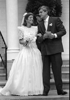 Caroline Kennedy and Edwin Schlossberg on July 19, 1986, in Centerville.