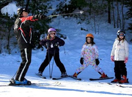 Ski instructor Paul Mason instructed his class.