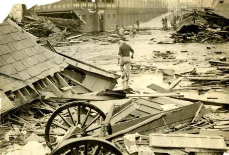 January 16, 1919: The gooey molasses formed a tidal wave that reached a depth of 15 feet and in places was 100 yards wide over a two block area.