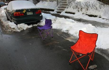 Camping chairs in Dorchester.