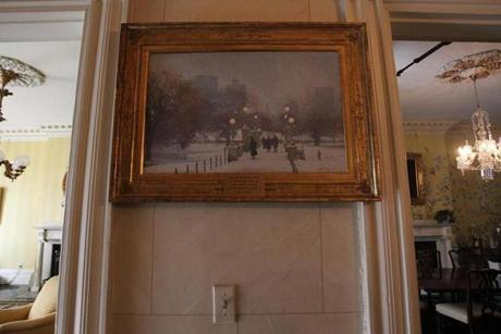 A famous painting on display at the house from the private collection of David G. Mugar.